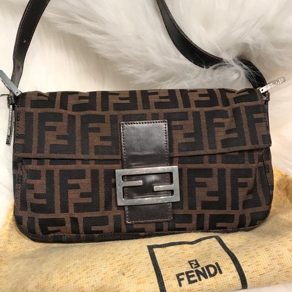 Fendi Handbags - Authentic FENDI Vintage Zucca Baguette Bag c4cfea2ea7be7